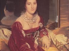 德·塞诺勒夫人 法国 安格尔 1814年,布面油画,106 x 84厘米,南特美术馆.jpg