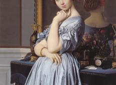 霍松维勒女伯爵 法国 安格尔 布上油画 纵131.8×横92厘米 纽约弗里克收藏馆藏.jpg