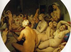 土耳其浴室 木板油画 法国 安格尔作品赏析 1862 卢浮宫博物馆藏.jpg