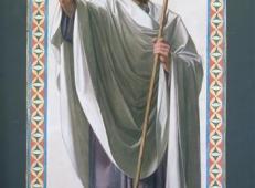德勒教堂的窗户纸,巴黎的第一位主教圣路易·圣丹尼斯.jpg