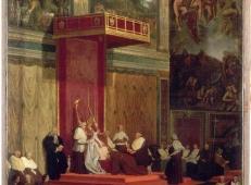 教皇庇护七世(路易吉·巴尔纳巴·基亚拉蒙蒂)出席礼拜 法国 安格尔.jpg