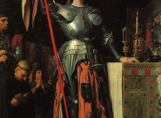 圣女贞德在兰斯大教堂查理七世加冕礼 法国 安格尔.jpg