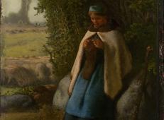 坐在岩石上的牧羊女.jpg