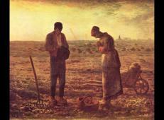 伟大的农民题材画——米勒《晚钟》.jpg